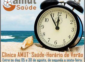 Clínica AMUT'Saúde – Horário de Verão